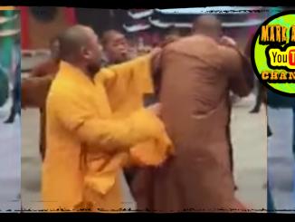 Brawling Monks