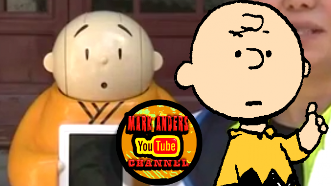 Charlie Brown and Buddhist Monk Robot