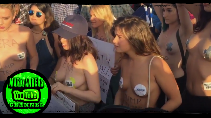 Topless Trump Protesters